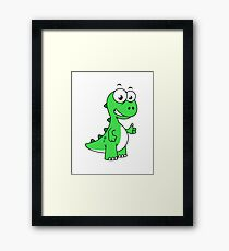 Cute illustration of Tyrannosaurus Rex. Framed Print