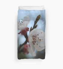Close Up Apricot Blossom In Pastel Shades Duvet Cover