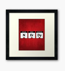 Nerdy Periodic Table Framed Print