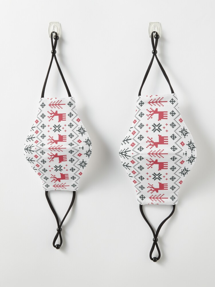 Alternate view of Holiday Sweater Pattern Mask