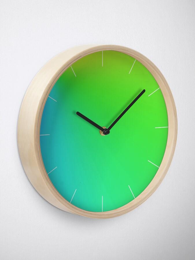Alternate view of Vivid Green Clock