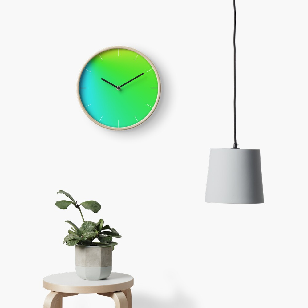 Vivid Green Clock