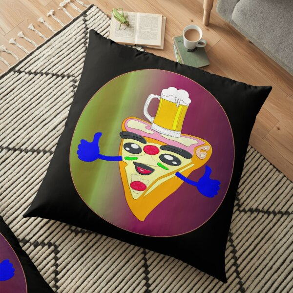 BEER AND PIZZA DAY Floor Pillow
