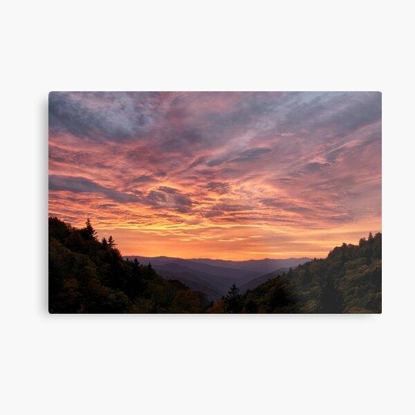 Sunrise At Luftee Overlook Metal Print