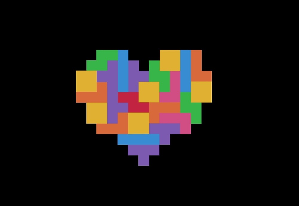 tetris heart by smallrodent