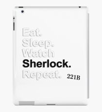 Eat, Sleep, Watch Sherlock, Repeat {FULL} iPad Case/Skin