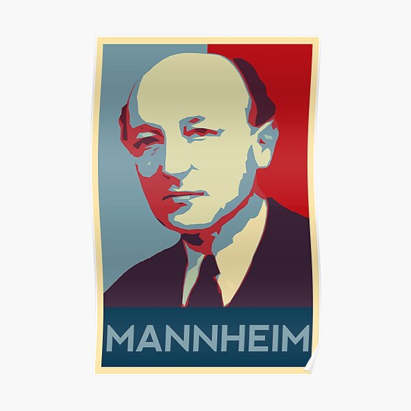karl mannheim Poster Poster