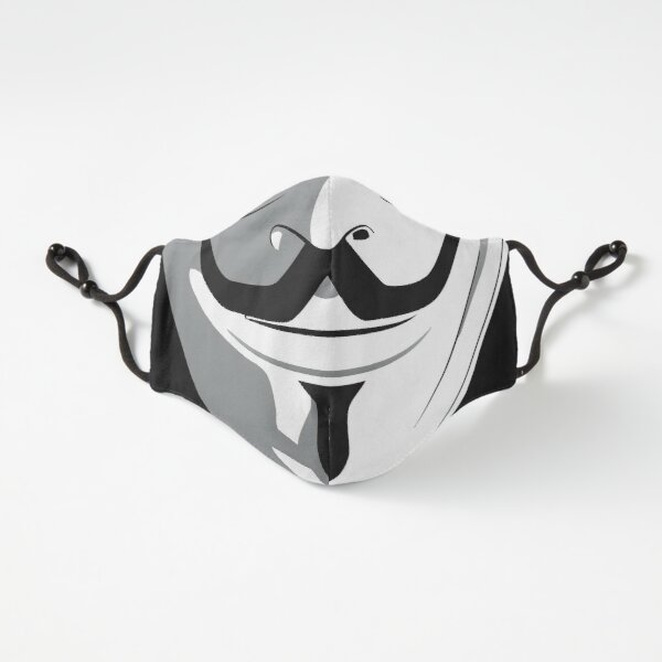 Anonymous Hero Guy Fawkes Smiling mouth cool movie (Quarantine Vendetta Face Mask coronavirus 2020 trendy style) Fitted 3-Layer