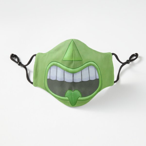 Green Tiki Tongue Mask! Fitted 3-Layer