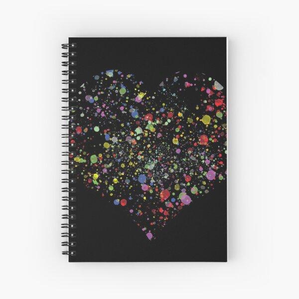 Paint Splat Heart Spiral Notebook