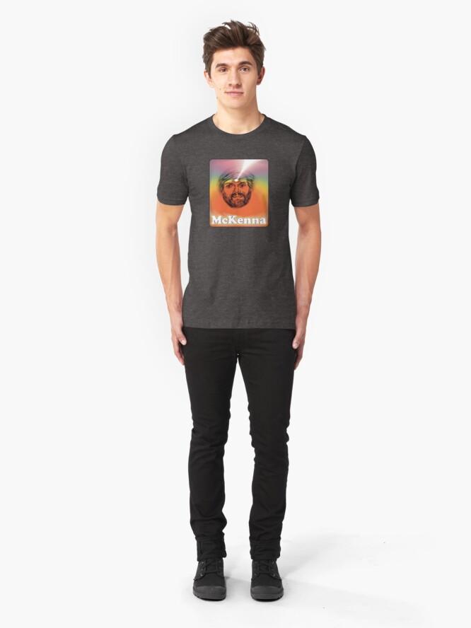 Alternate view of Terence McKenna Third Eye Rainbow Slim Fit T-Shirt