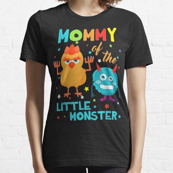 Mommy Of The Little Monster Birthday Family Monster S Essential T-Shirt