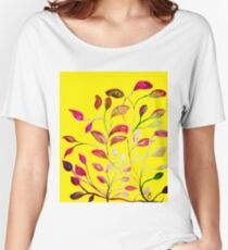 Red and Green Leaves! Yellow Sunshine! Women's Relaxed Fit T-Shirt