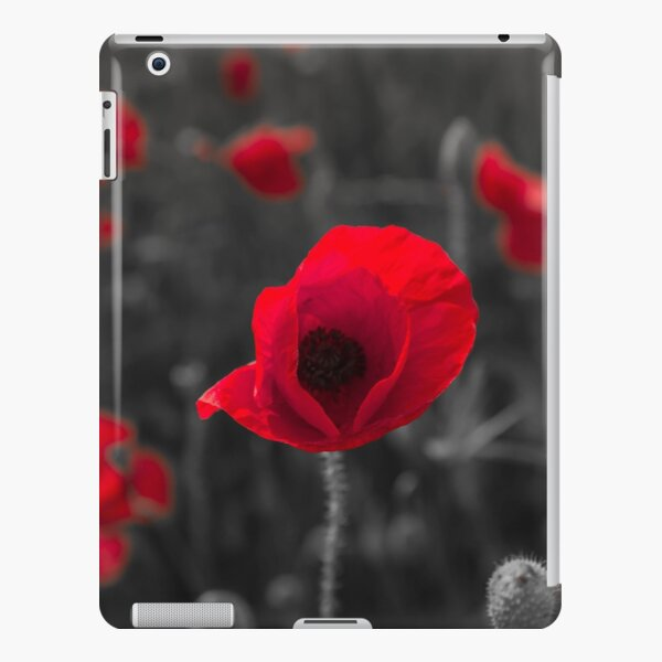 Poppy face and black and white background iPad Snap Case