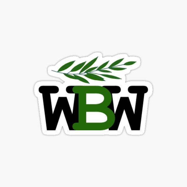 Works by Willow Logo (Transparent) Sticker