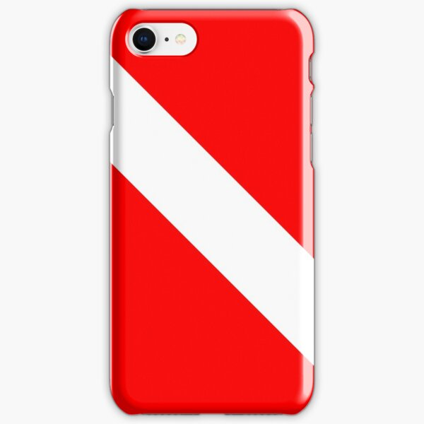Diver Down SCUBA Flag Red and White iPhone Snap Case