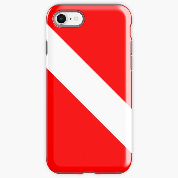 Diver Down SCUBA Flag Red and White iPhone Tough Case