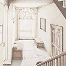 Sunlit Hallway in Georgian Mansion House by Fiona Cross