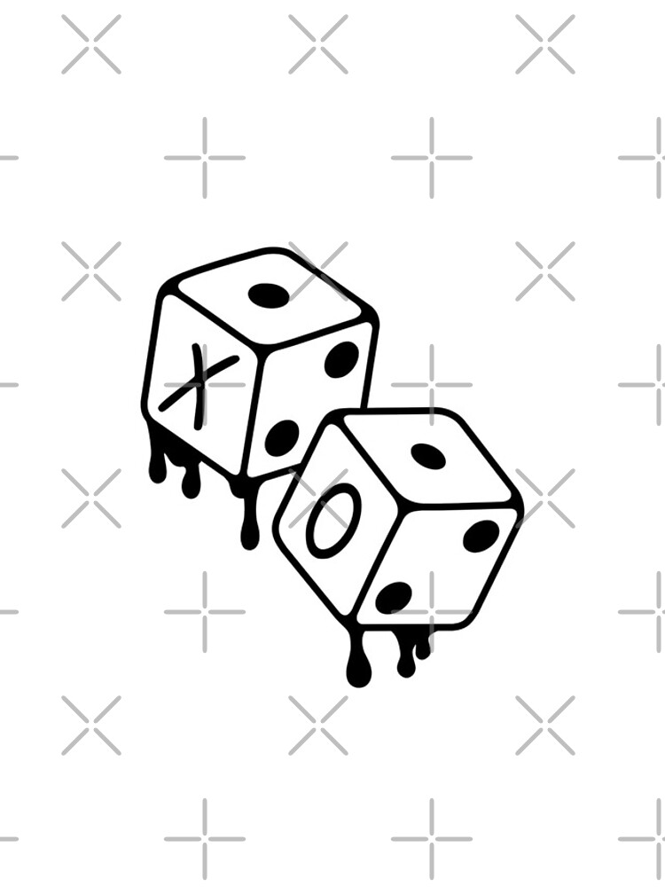 After Hours XO Dice Black and White Design by Disocodesigns