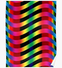 Vibrant Wiggly Line Pattern Poster