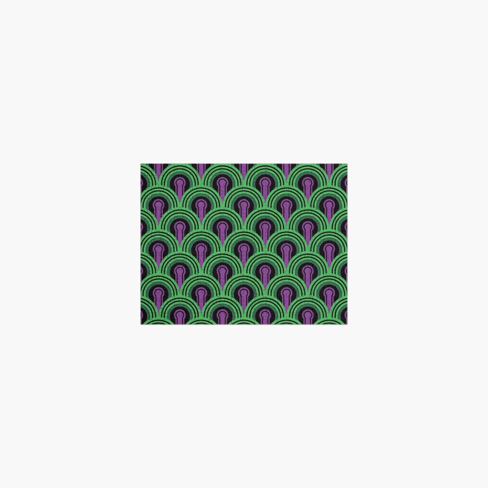 Overlook Hotel Carpet from The Shining: Purple/Green Jigsaw Puzzle