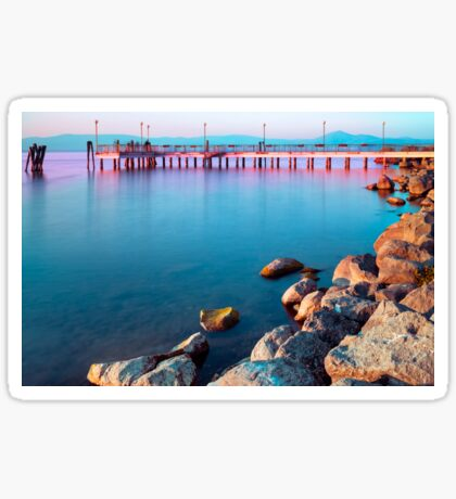 Calm Lake At Sunset Sticker