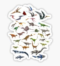 Colored Dinosaurs chart Sticker