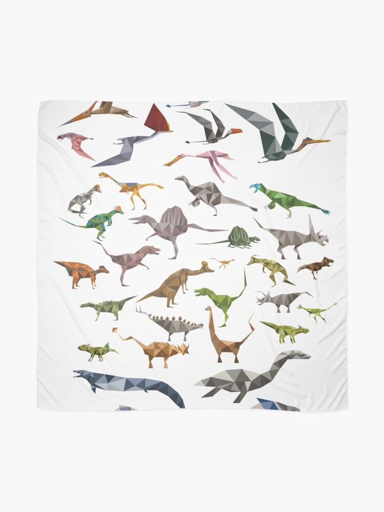 Alternative Ansicht von Farbige Dinosaurier-Karte Tuch