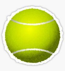 Gelber Tennisball Sticker