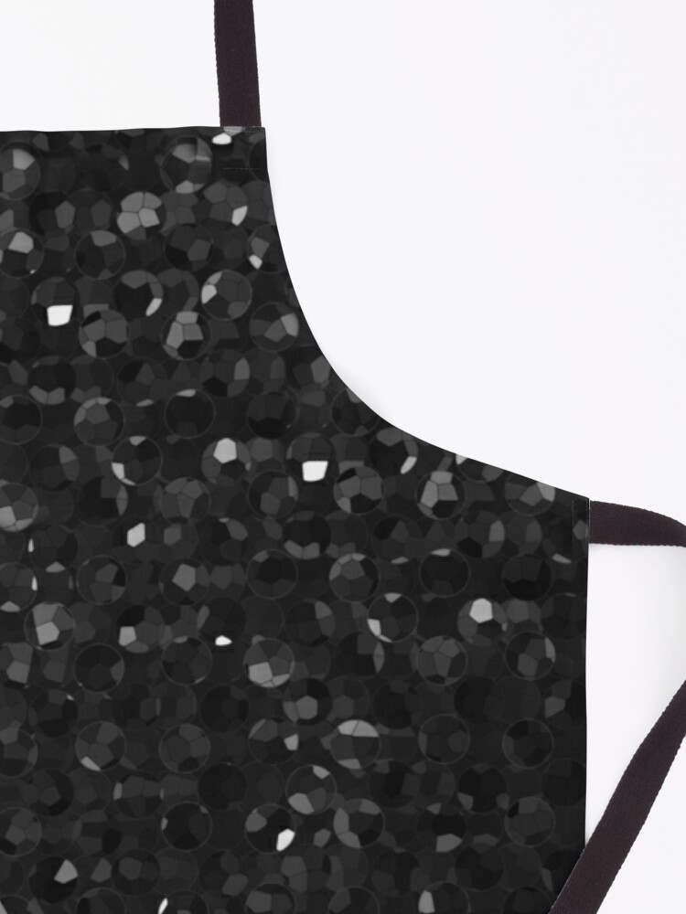 Alternate view of Black Crystal Bling Strass G283 Apron