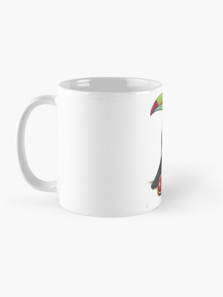 Alternate view of Toucan in clown shoes Mug