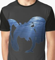 Lugia Underwater Silhouette Graphic T-Shirt