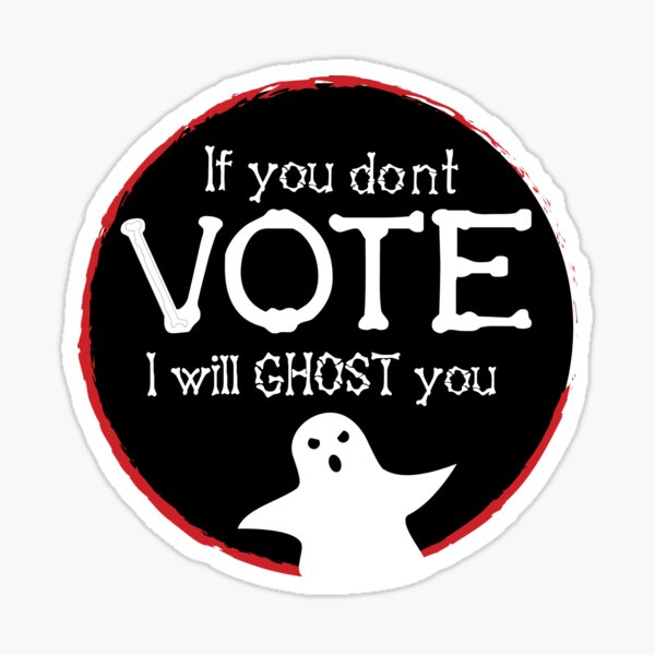 Ghost Vote Sticker