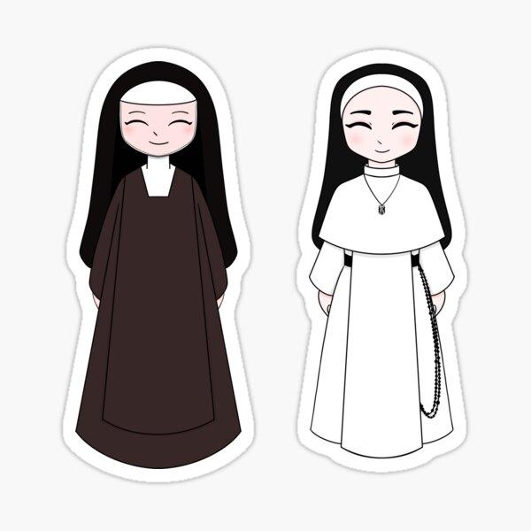 Carmelite and Dominican Nuns Sticker