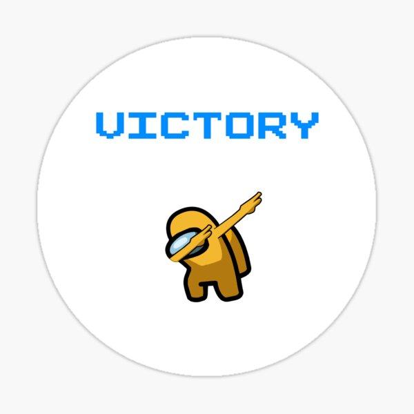 parmi nous tamponnant la victoire jaune Sticker