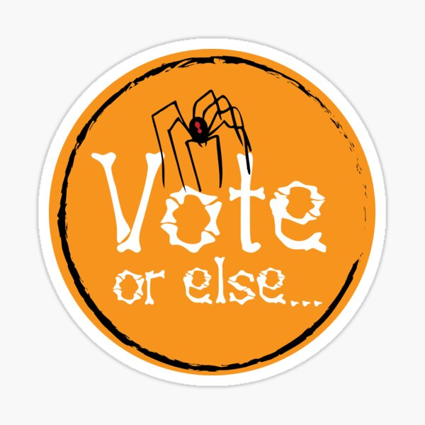 Spider Vote Sticker