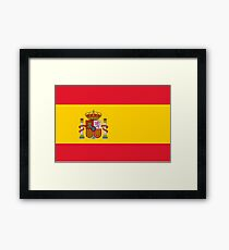 SPAIN, SPANISH, Espania, Flag of Spain, Spanish Flag, Bandera de España, Kingdom of Spain, Framed Print