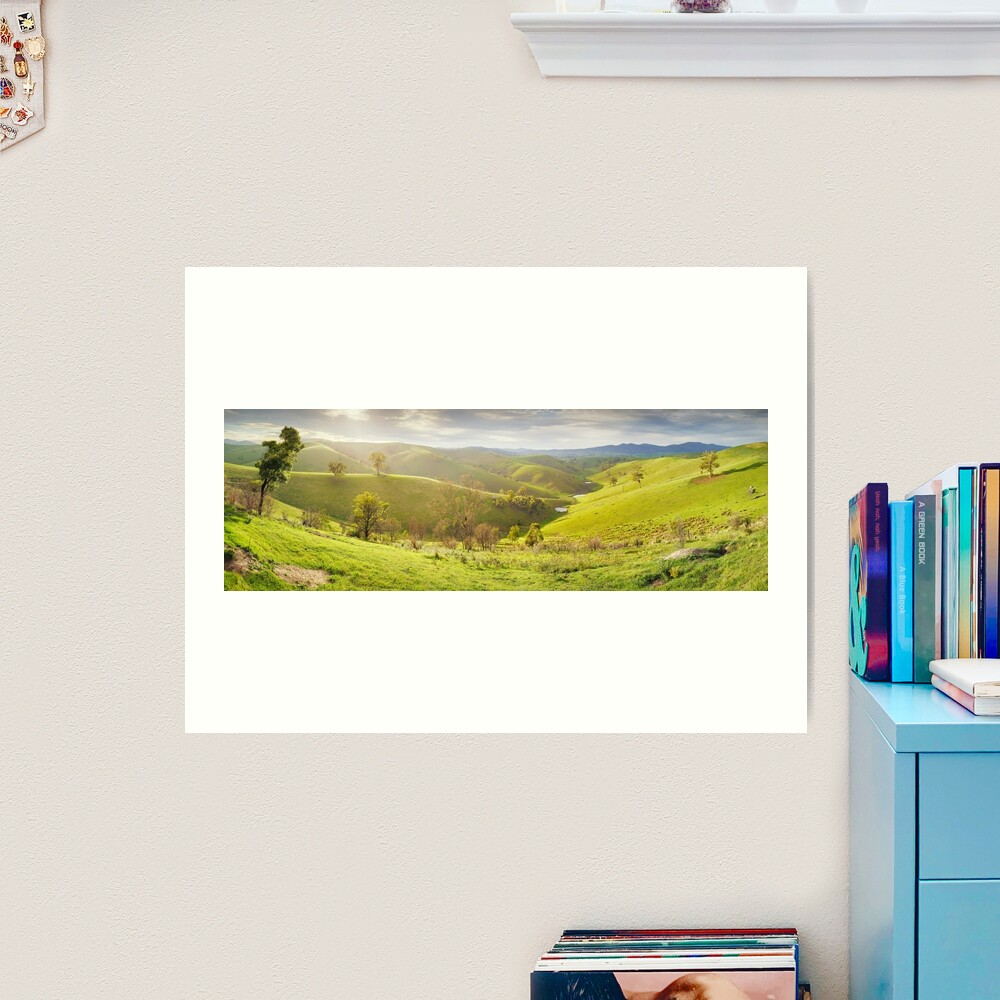 Buchan Valley Dawn, Victoria, Australia Art Print