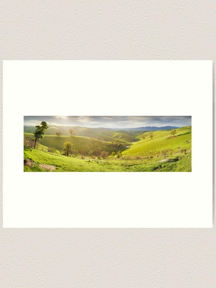 Alternate view of Buchan Valley Dawn, Victoria, Australia Art Print