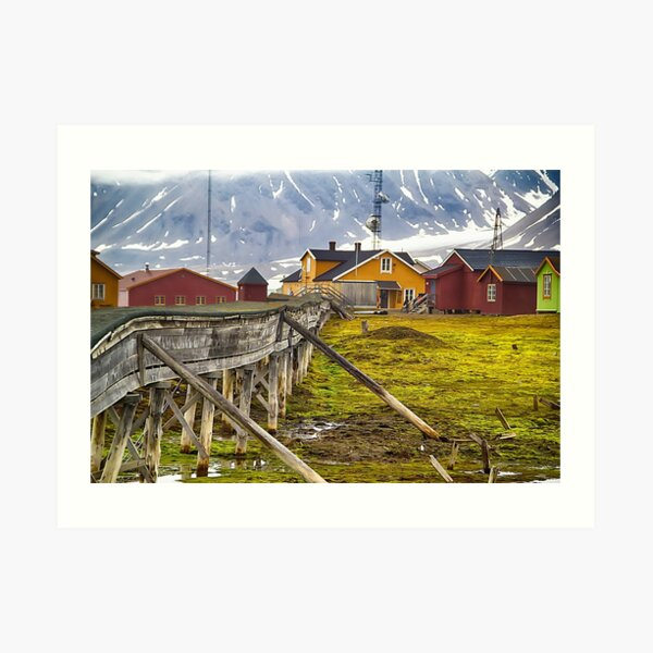 Colors of Ny-Alesund Art Print