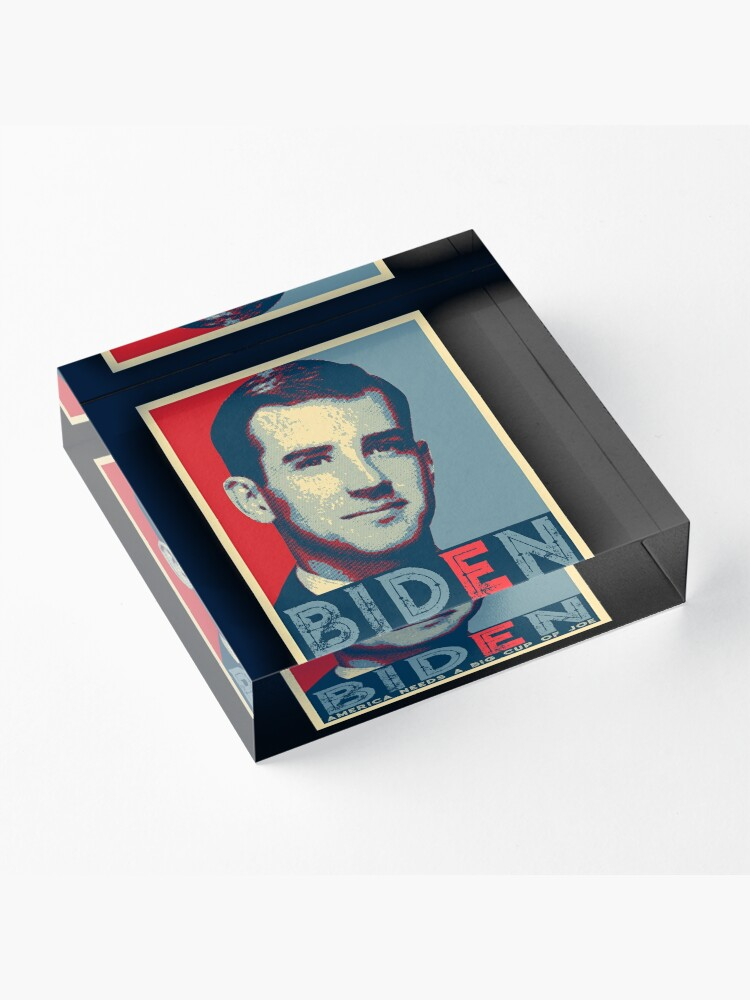 Alternate view of BIDEN AMERICAN NEEDS A BIG CUP OF JOE Acrylic Block