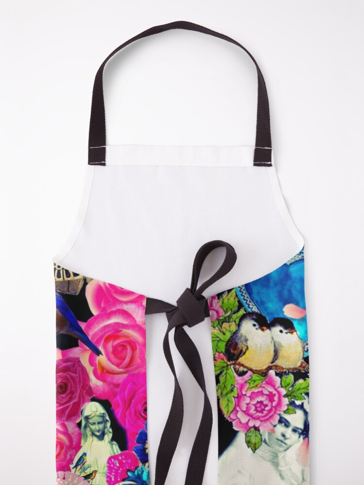 Alternate view of Frida Kahlo Love One Another Collage Apron