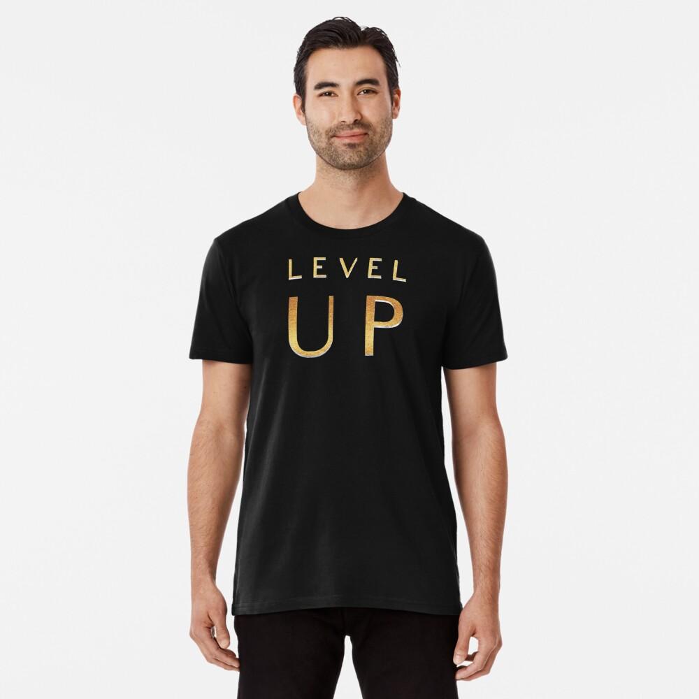 Level up Gamer Design  Premium T-Shirt