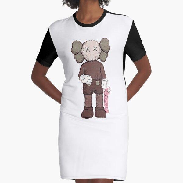 small robo pink Graphic T-Shirt Dress