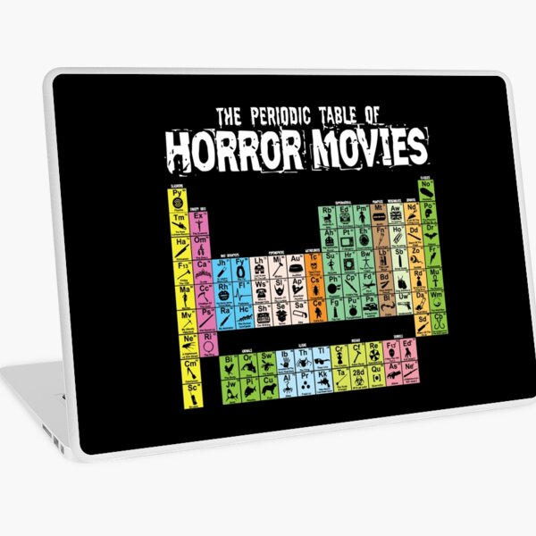Periodic Table of Horror Movies 2020 Laptop Skin