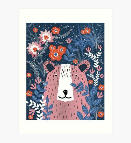 Bear Garden Art Print