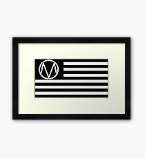 Wave Your Maine Flag Framed Print