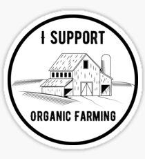 I Support Organic Farming Sticker