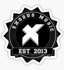 Exodus Music Badge Logo Sticker