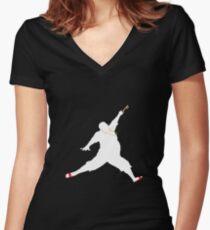 DJ Khaled Key to Success - Jordan Women's Fitted V-Neck T-Shirt